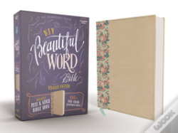 Wook.pt - Niv, Beautiful Word Bible, Updated Edition, Peel/Stick Bible Tabs, Leathersoft Over Board, Gold/Floral, Red Letter, Comfort Print