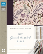 Niv, Journal The Word Bible, Hardcover, Pink Floral Cloth
