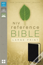 Niv Reference Bible, Large Print Black Leather