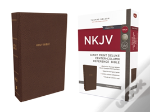 Nkjv, Deluxe Reference Bible, Center-Column Giant Print, Imitation Leather, Brown, Red Letter Edition, Comfort Print