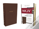 Nkjv, Reference Bible, Center-Column Giant Print, Imitation Leather, Brown, Red Letter Edition, Comfort Print