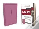 Nkjv, Reference Bible, Compact Large Print, Imitation Leather, Pink, Red Letter Edition, Comfort Print