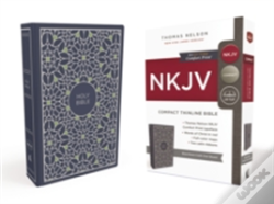 Wook.pt - Nkjv, Thinline Bible, Compact, Cloth Over Board, Blue/Green, Red Letter Edition
