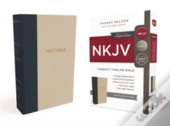 Nkjv, Thinline Bible, Compact, Cloth Over Board, Blue/Tan, Red Letter Edition