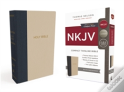 Wook.pt - Nkjv, Thinline Bible, Compact, Cloth Over Board, Blue/Tan, Red Letter Edition