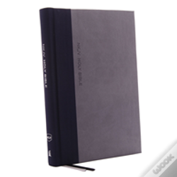 Wook.pt - Nkjv, Thinline Bible, Large Print, Cloth Over Board, Gray/Blue, Red Letter Edition