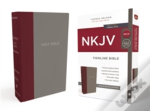 Nkjv, Thinline Bible, Standard Print, Cloth Over Board, Burgundy/Gray, Red Letter Edition