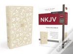 Nkjv, Thinline Bible, Standard Print, Cloth Over Board, White/Tan, Red Letter Edition