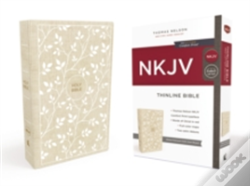Wook.pt - Nkjv, Thinline Bible, Standard Print, Cloth Over Board, White/Tan, Red Letter Edition