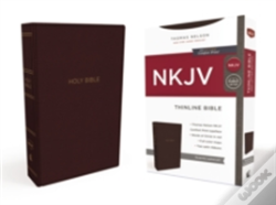 Wook.pt - Nkjv, Thinline Bible, Standard Print, Imitation Leather, Burgundy, Red Letter Edition