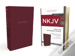 Nkjv, Thinline Reference Bible, Leather-Look, Burgundy, Red Letter Edition, Comfort Print