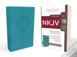 Wook.pt - Nkjv, Value Thinline Bible, Compact, Imitation Leather, Blue, Red Letter Edition