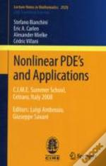 Nonlinear Pde'S And Applications