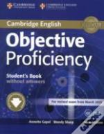 Objective Proficiency Student'S Book Without Answers With Downloadable Software