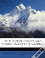 Of The Proficience And Advancement Of Learning