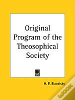 Original Program Of The Theosophical Society (1931)