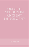 Oxford Studies In Ancient Philosophy, Volume 54