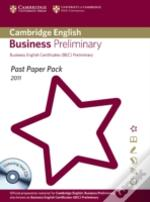 Past Paper Pack For Cambridge English Business Preliminary 2011 Exam Papers And Teacher'S Booklet With Audio Cd