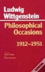 Philosophical Occasions, 1912-51