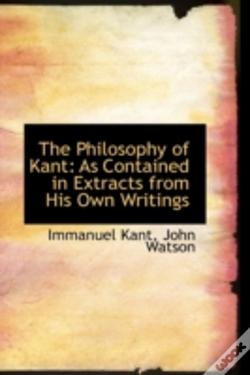 Wook.pt - Philosophy Of Kant