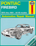 Pontiac Firebird 1970-81 Owner'S Workshop Manual