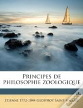 Principes De Philosophie Zoologique