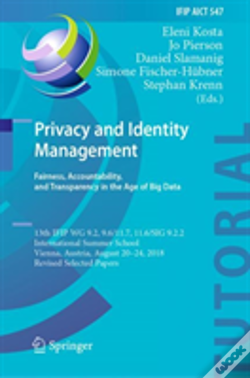 Wook.pt - Privacy And Identity Management. Fairness, Accountability, And Transparency In The Age Of Big Data