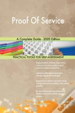Proof Of Service A Complete Guide - 2020