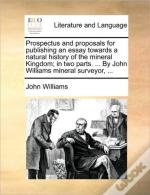 Prospectus And Proposals For Publishing