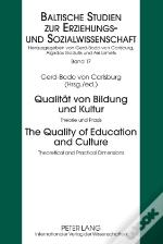 Qualitaet Von Bildung Und Kultur The Quality Of Education And Culture