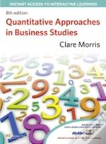 Quantitative Approaches In Business