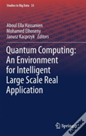 Quantum Computing:An Environment For Intelligent Large Scale Real Application