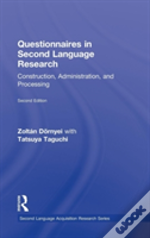Questionnaires In Second Language Research