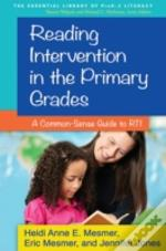 Reading Intervention In The Primary Grades