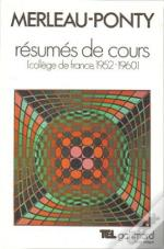 Resumes De Cours (College De France 1952 1960)