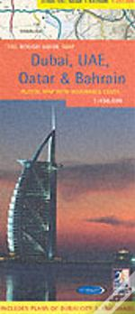 Rough Guide Map Dubai, United Arab Emirates, Qatar And Bahrain