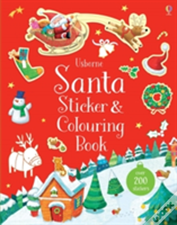 Wook.pt - Santa Sticker And Colouring Book