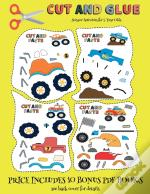Scissor Activities For 3 Year Olds (Cut And Glue - Monster Trucks)
