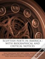 Scottish Poets In America : With Biographical And Critical Notices