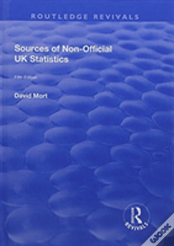 Wook.pt - Sources Of Non Official Uk Statisti