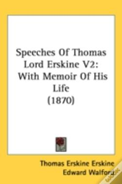 Wook.pt - Speeches Of Thomas Lord Erskine V2