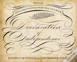 Wook.pt - Spencerian Penmanship Practice Book: The Declaration Of Independence