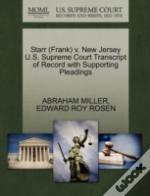 Starr (Frank) V. New Jersey U.S. Supreme Court Transcript Of Record With Supporting Pleadings