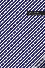 Striped Pattern Composition Notebook, Dotted Lines, Wide Ruled Medium Size 6 X 9 Inch (A5), 144 Sheets Blue Cover