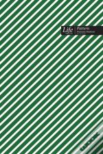 Striped Pattern Composition Notebook, Dotted Lines, Wide Ruled Medium Size 6 X 9 Inch (A5), 144 Sheets Green Cover