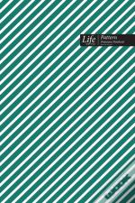 Striped Pattern Composition Notebook, Dotted Lines, Wide Ruled Medium Size 6 X 9 Inch (A5), 144 Sheets Olive Cover