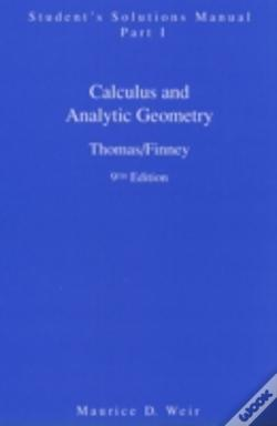 Student Solutions Manual Part 1 For Calculus
