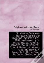 Studies In European Literature, Being Th