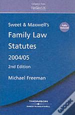 Sweet And Maxwell Family Law Statutes