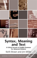 Syntax Meaning And Text